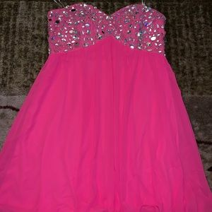 Rhinestone pink dress